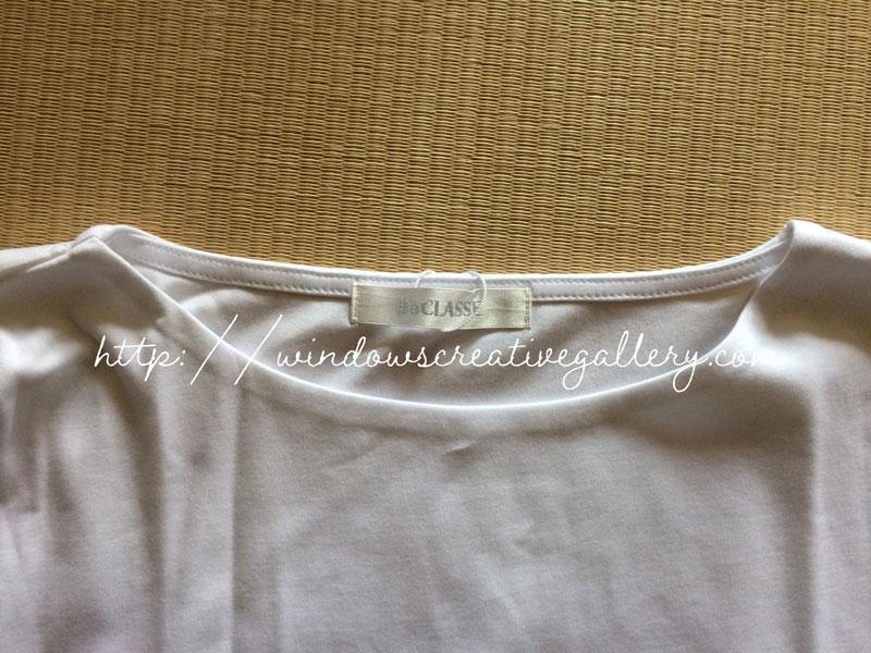 ドゥクラッセTシャツの襟部分