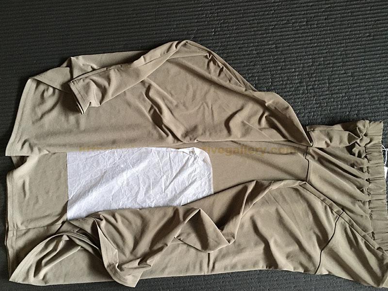 ドレープジャージーのAラインスカート